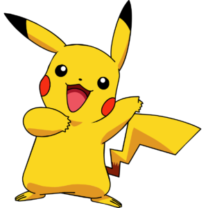 Pikachu with a full yellow tail